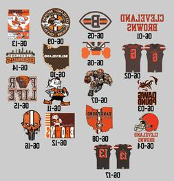 06-00 Cleveland Browns decals Baker Mayfield Beckham JR Jers