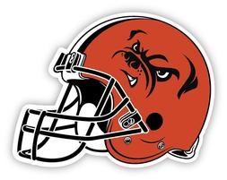 "17"" Cleveland Browns Vinyl Sticker Decal for Cornhole truck"