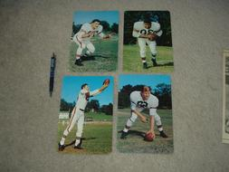 1955 Cleveland Browns Giant Postcard Near Set 5 of 6  NO Cre