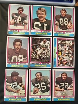 1974 TOPPS FOOTBALL---- VERY HIGH GRADE NEAR TEAM SETS AND L