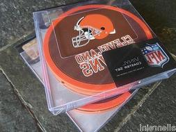2 - 4 Packs Vinyl Drink Coasters - Cleveland Browns - Box