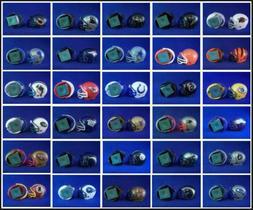 2 nfl football gumball helmet chalk holders