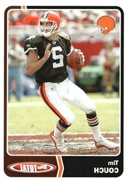2003 Topps Total Team Checklists Insert #TC8 Tim Couch Cleve
