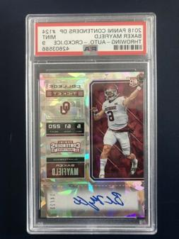 2018 Baker Mayfield Contenders Cracked Ice Rookie Auto Colle