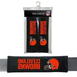 2PC NFL Cleveland Browns Car Truck Bag Seat Belt Pads / Shou