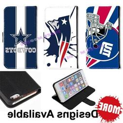 American Football Sports Team PU Leather Wallet Flip Case fo