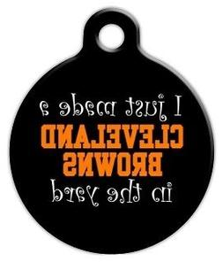 ANTI CLEVELAND BROWNS - Custom Personalized Pet ID Tag for D
