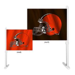 Auto Car Window Flag - NFL Cleveland Browns. 2-sided. Home A
