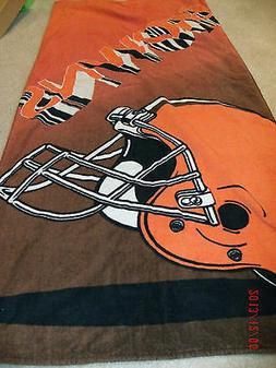 Beach Towel Cleveland Browns Adult One Size Orange & Brown
