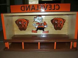 Cleveland Browns Bobble heads display case with Elf & Dog  H