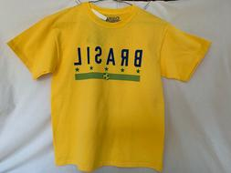 STITCHES BRASIL SOCCER COUNTRY YELLOW GRAPHIC TEE YOUTH LARG