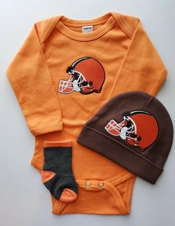 Browns infant/baby clothes Browns baby shower gift boy Brown