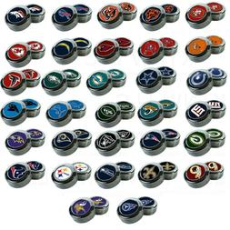Chrome Football License Plate frame screw caps Bolt Cover Tw