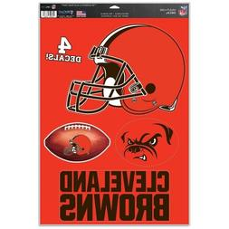 """Cleveland Browns 11"""" x 17"""" Multi Use Decals  - Auto,Windows,"""