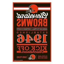 """Cleveland Browns 11""""x17"""" Wood Sign Established Design  NFL W"""