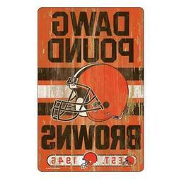 "Cleveland Browns 11""x17"" Wood Sign Slogan Design  NFL Wall B"