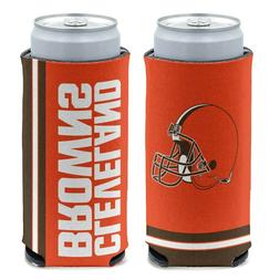 CLEVELAND BROWNS 12oz. SLIM CAN COOLER CAN HOLDER NEW WINCRA