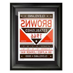 Cleveland Browns 12x16 Dual Tone Framed Artwork