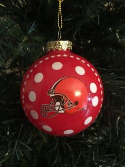 Cleveland Browns 3 in Glass Ball Ornament ** New In Box**  6