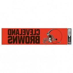 Cleveland Browns 3 x 12 Inch Bumper Sticker  NFL Strip Car T