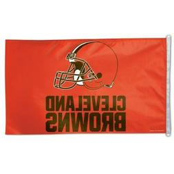 CLEVELAND BROWNS 3'X5' HOUSE FLAG OR WALL BANNER NFL LICENSE