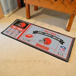"Cleveland Browns 30"" X 72"" Ticket Runner Area Rug Floor Mat"