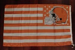 Cleveland Browns 3x5 American Flag. US seller. Free shipping