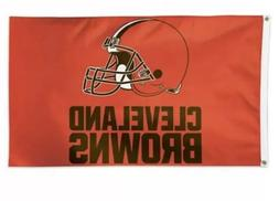 Cleveland Browns 3x5 Ft Flag Football New In Packaging Orang