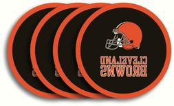 CLEVELAND BROWNS, 4/PACK VINYL COASTER SET FROM DUCKHOUSE SP