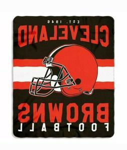 "Cleveland Browns 50"" x 60"" Singular Fleece Throw Blanket by"