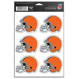 cleveland browns 6 pack magnet set