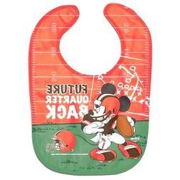 Cleveland Browns Baby Bib Disney Mickey Mouse Feeding Infant