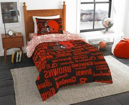 NFL Cleveland Browns Bed in a Bag Complete Bedding Set Multi