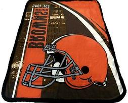 Cleveland Browns blanket bedding 60x80  FREE SHIPPING NFL NF