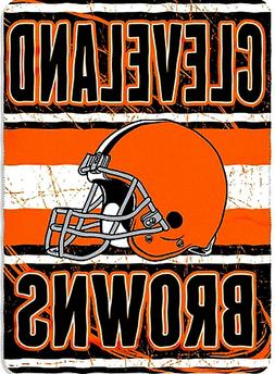 Cleveland Browns blanket bedding 90x66 fleece FREE SHIPPING