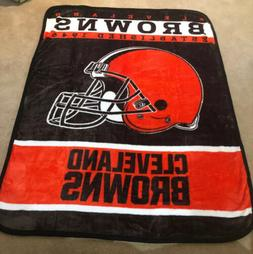 Cleveland Browns Blanket/Throw HUGE 60 X 80 ROYAL PLUSH Supe