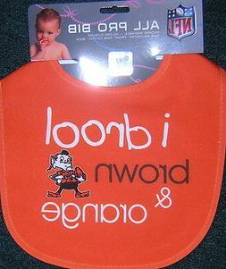 """Cleveland Browns Brownie Elf I Drool Brown & Orange"""" Baby Bi"""