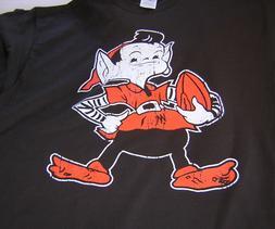 Cleveland Browns Brownie Elf Short Sleeve Brown T-Shirt XL