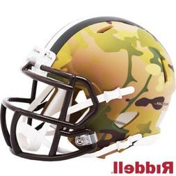 Cleveland Browns Camo Alt Riddell Speed Mini Helmet - New in