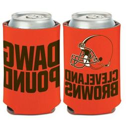 Cleveland Browns Can Cooler Slogan Design 12oz Collapsible K