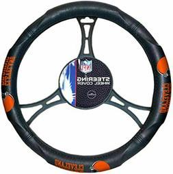Cleveland Browns Car Truck Black Steering Wheel Cover NFL