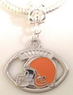 Cleveland Browns Football Charm For Charm Bracelet or Neckla
