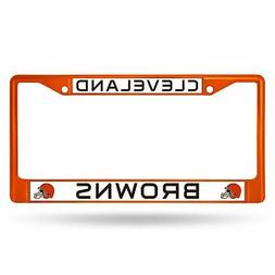 Cleveland Browns Chrome License Plate Frame Tag Cover Car/Au