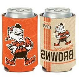 CLEVELAND BROWNS CLASSIC LOGO BROWNIE ELF NEOPRENE CAN BOTTL