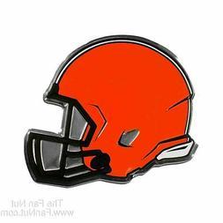 Cleveland Browns Coll Ed HELMET Raised Color Chrome Metal Au