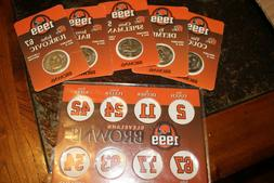 Cleveland Browns Collectible Coins 1999 and Coin Holder