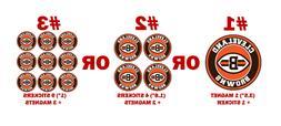 Cleveland Browns decal magnet pc car fridge ps sport team ma