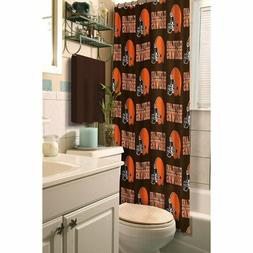 Cleveland Browns Decorative Bath Shower Curtain 72x72 FAST U