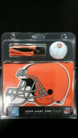 Cleveland Browns Deluxe Golf Gift Set 15x25 Towel Logo Ball