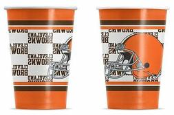 Cleveland Browns Disposable Paper Cups - 20 Pack  NFL Party